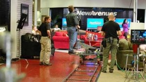 Crew Atlanta on location for a commercial video ad at retail chain New Avenues