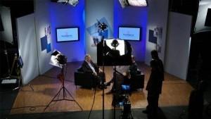 photo of Suntrust studio shoot set