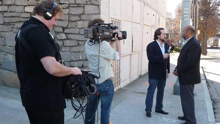 Atlanta news ENG video camera crew